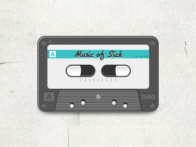 Music Of Sick music sick illustration malade gelule capsule tape cassette audio bande magnetique magnetic medical drug medicament
