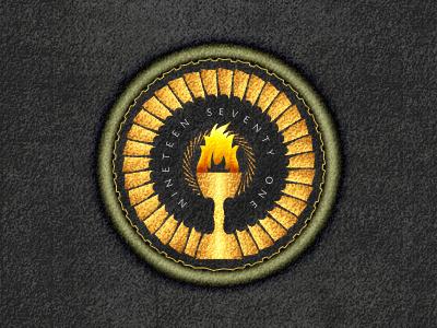 Badge badge logo design sport gold or ecusson mark emblem fire feu
