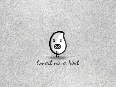 Email Me A Bird... mail envelop enveloppe email adress adresse lettre letter oiseau white blanc courrier logo