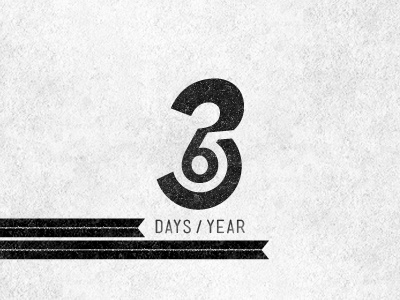 365 Days / Year negatif espace space negative 365 day jour an annee logo design typography type typo numero code numeral digit figure nombre number chiffre year