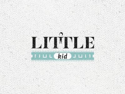 Little Kid little kid enfant girl boy child garcon fille childhood enfance petit logo type typography typographie text lettering design t symbol mark