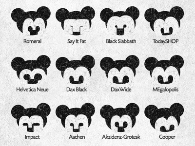 Playing With Number 3 white nose number 3 negative space head type disney logo logotype design illustration shape three mickey ear face font character eyes black mouse gray typography animal symbol mark