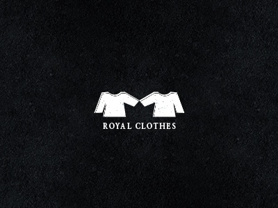 Royal Clothes logo cloth clothes space negative royal logodesign design shape crown black white mark symbol