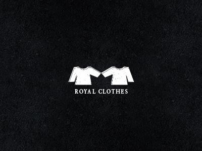 Royal Clothes logo cloth clothes space negative royal logodesign design shape crown black white mark symbol