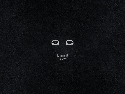 Email Spy email spy mailbox inbox negative space icon logo head face eye black white symbol mark mail design