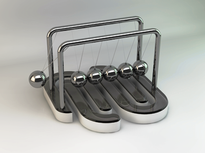 Squarespace6 Newton's Cradle squarespace6 squarespace playoff rebound 3d modeling render c4d cinema 4d ball metal newton cradle logo 6 six toy cinema4d light
