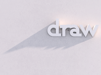 Draw A Bird | Playing With Type white draw bird shadow light c4d cinema 4d type typography wall stone word 3d ra cinema4d gsg letter logo negative space animal
