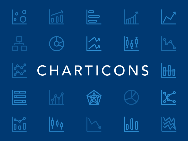 Charticons free icons iconography graphs data charts