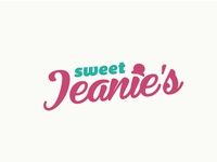 Sweet Jeanies - 50s style Ice Cream Shop Logo