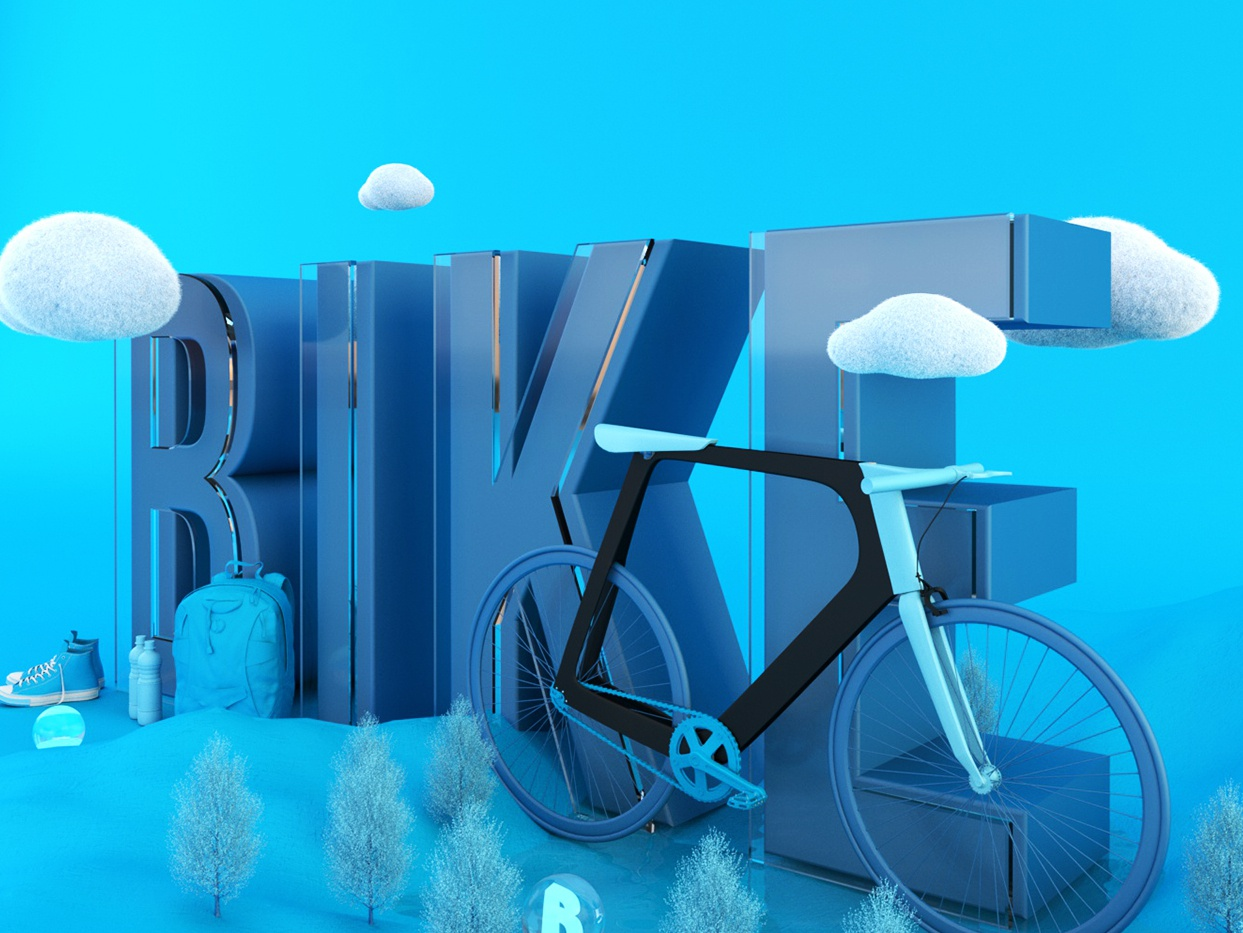 Bike-Colorlife-1 3d art 3d