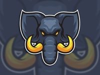 Elephant head esport logo