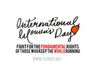 International Women's Day Custom Calligraphy