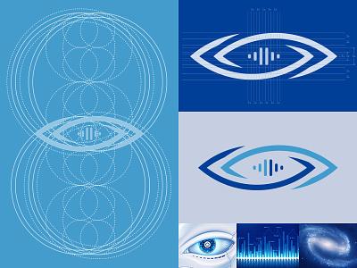 Ruiyan Technology Logo deep blue technology tech bigdata blue logo company logo machine vision