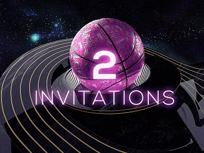 Dribbble invitations technology tech 3d player basketball c4d pink dribbble invitations invitation invites invite