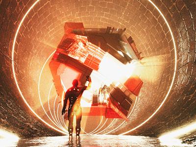Energy cube cube energy surreal fantasy scifi octane octanerender cinema4d c4d