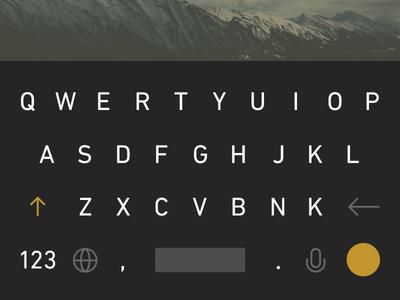Keyboard keyboard flat ui allcaps clean
