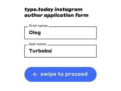 Introduction iconoteka turbaba interaction input register form registration interface