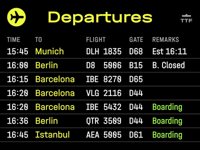 Departures iconoteka icon animation turbaba navigation bar airport departures navigation navigator