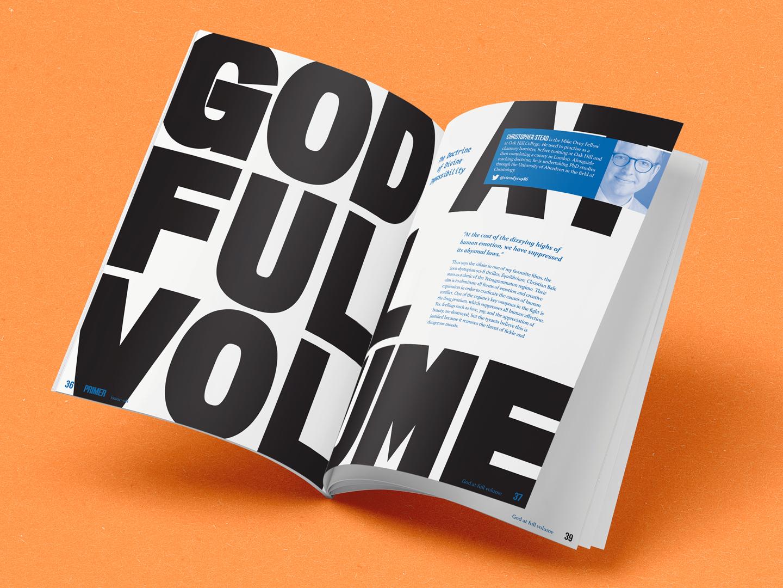 full volume typogaphy god spot colour fiec theology primer magazine