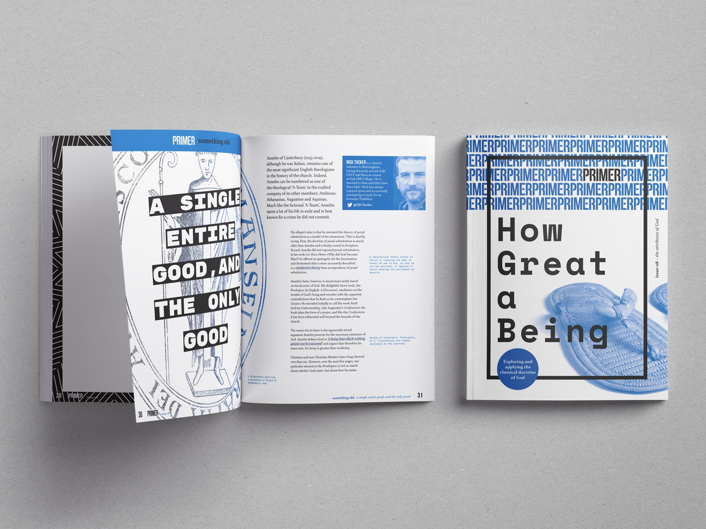 how great a being print magazine church spot color spot colour theology primer fiec