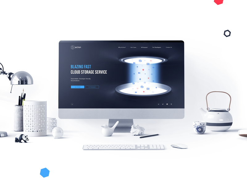 Website Design and Production // Archon Light Mockup website web page web ux user interface user experience ui technology landingpage landing interface design crypto blockchain animation