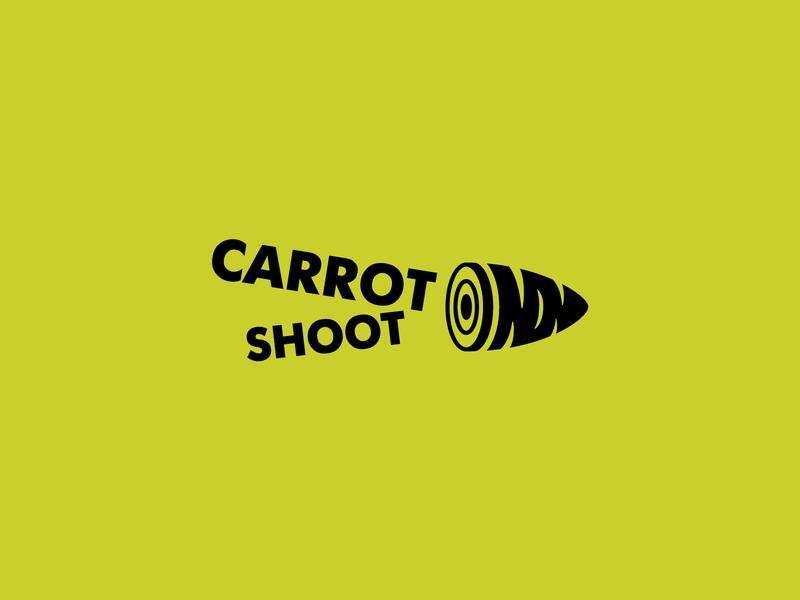 One color Carrot Shoot     Logo one color color shoot carrot art icon logo branding vector illustration design