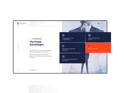 Pages     Pulsar Website blockchain crypto landing website minimal flat web app ux ui design