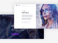 Pages  |  Pulsar Website graphic design website minimal flat app web landing ux ui design