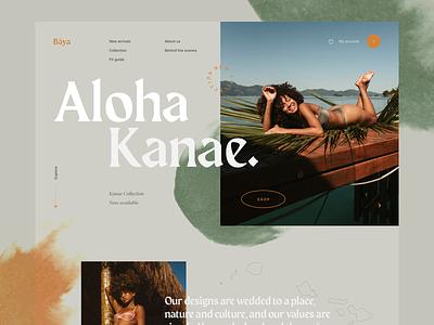Baya Concept typography website concept flat ui interface webdesign clean homepage design
