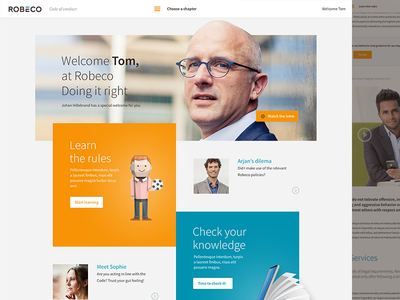 Robeco concept  clean homepage learing design