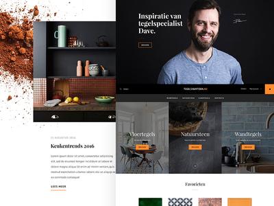 Tegelsvantoen homepage flat webshop shopping logo design homepage webdesign