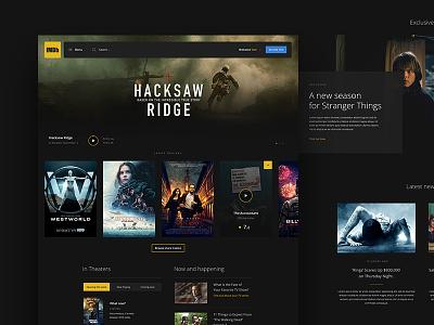 IMDb concept movies concept design homepage webdesign