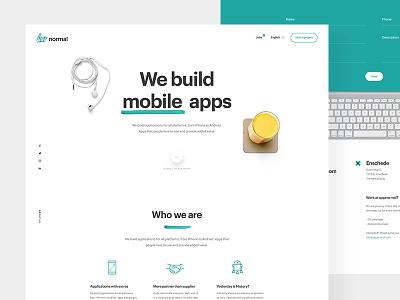 Appnormal mobile onepager design homepage webdesign