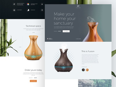 Fusion concept landingspage onepager peace homepage clean design