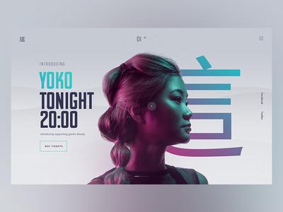 YOKO asia music web design work free