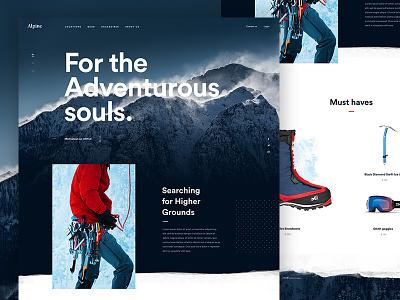 Alpine Concept experience fullscreen design homepage webdesign