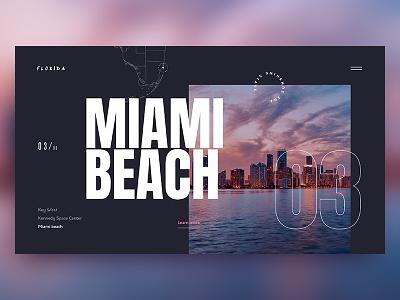 Miami Beach webdesign homepage design