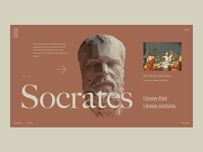 Socrates 3d concept pastel ui flat interface webdesign clean homepage design