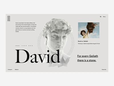 David illustration website ux typography concept pastel ui flat interface webdesign clean design