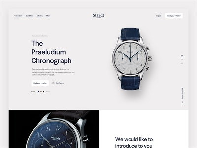Staudt Product page website concept interface clean homepage ui flat webdesign design