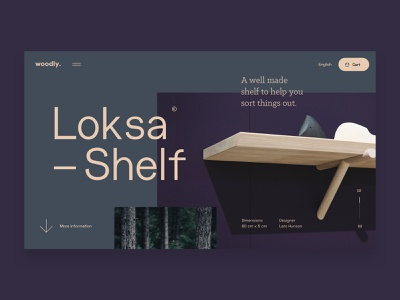 Woodly Concept digital design conceptual interior design font graphic flat homepage webdesign concept