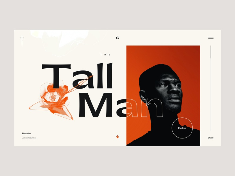 The Tall Man branding website concept ui interface flat webdesign clean homepage design