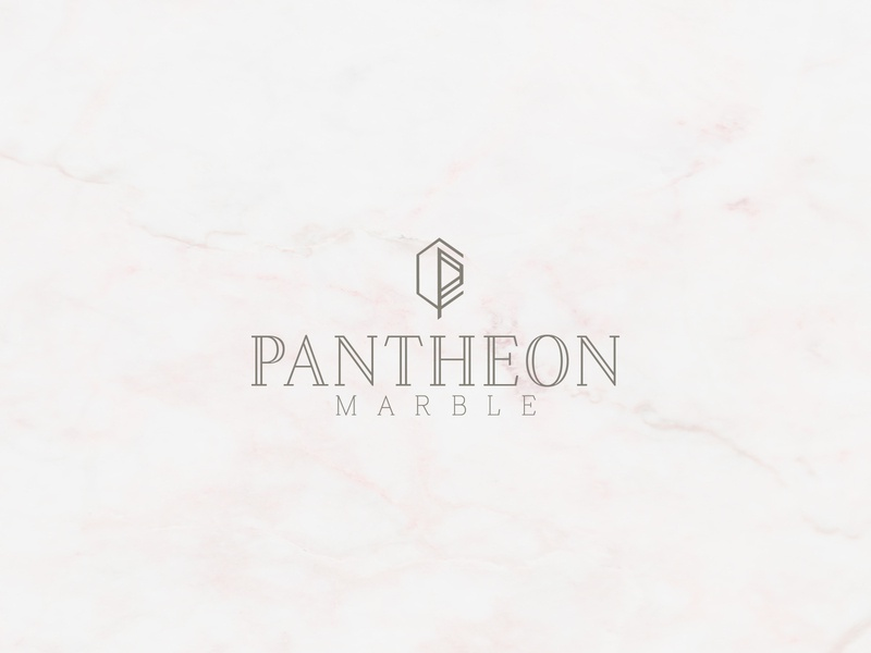 Pantheon Marble Branding, Logo Design typography logo anthic marble texture pantheon logo minimal modern rebrand vector illustration graphic design concept typography identity branding graphic design