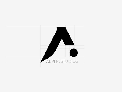 Alpha Studios Logo Design alpha design studio graphic design grid black emblem logotype letter a flat logo minimal logodesign idea rebrand concept typography identity branding graphic design