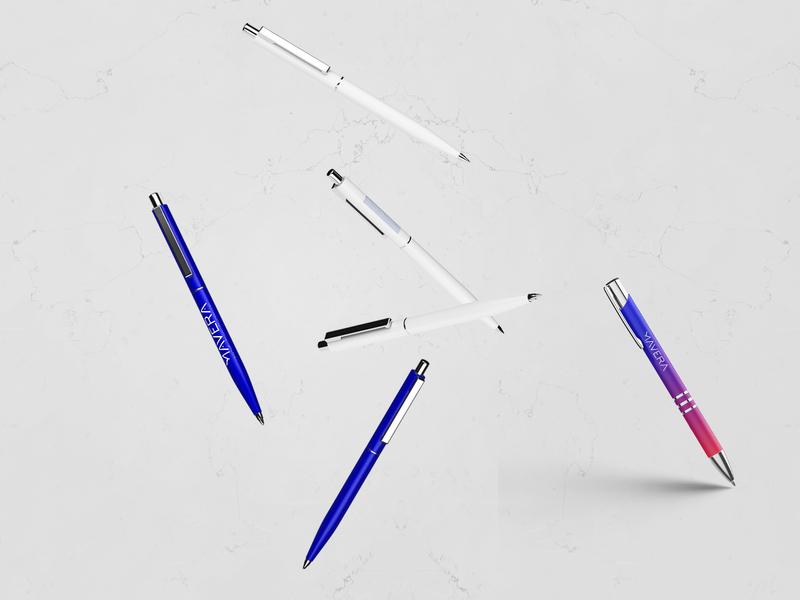 Mavera Rebrand Design - Pen blue logo mockups stationery print designstudio pencil pen mockup minimal logodesign idea rebrand concept typography identity branding graphic design