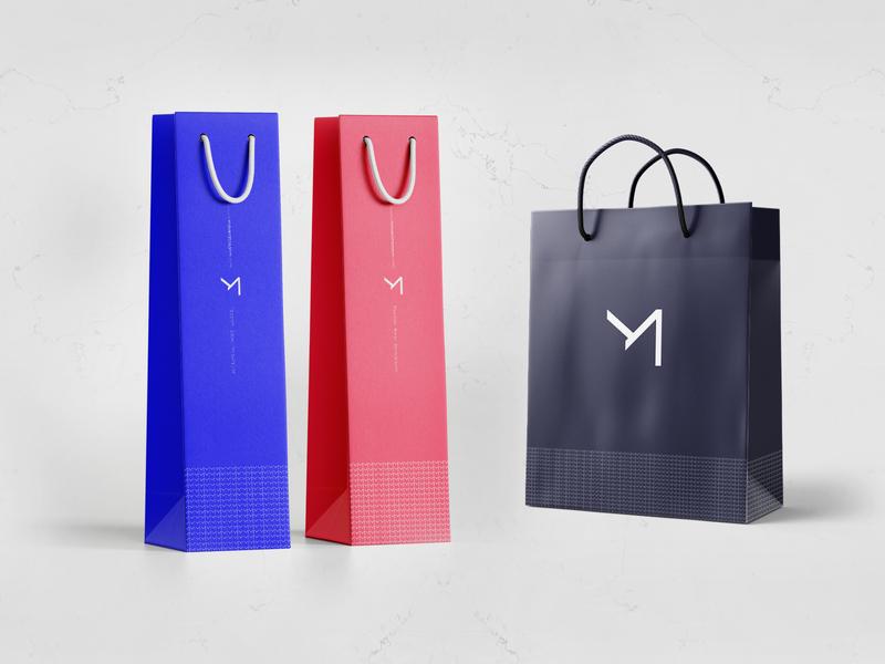 Mavera Rebrand Design - Paper Bag stationary clean mockup texture print cmyk colors designstudio minimal idea modern logodesign rebrand concept typography identity branding graphic design