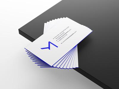 Mavera Business Card print logo flat idea minimal business card logodesign rebrand concept typography identity branding graphic design