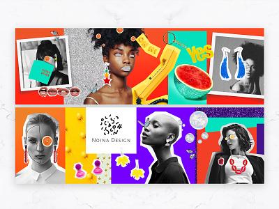 Noina - Web Banner Design accessories colorful minimal rebrand branding typography unique graphic design web banner post socialmedia graphic design