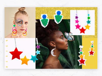 Noina - Post Design collage modern colorful bold social media story post accessories graphic design logodesign minimal idea rebrand identity concept typography branding graphic design