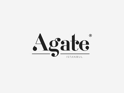Agate Istanbul, Logo Design agate istanbul marble design print modern graphic design illustration concept idea identity branding rebrand marble company typography minimal turkey graphic logo